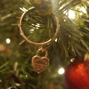 Authentic Tiffany & Co heart tag ring